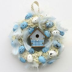 Easter Decorations – Little Easter wreath with feathers – a unique product by Artan on DaWanda