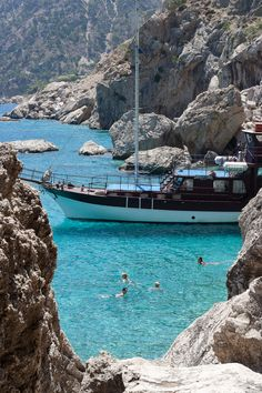 Turquoise Sea of Karpathos Island, Dodekanisa, Greece