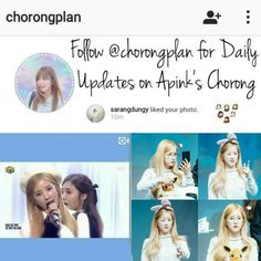 Go follow @chorongplan for daily updates on Apink's lovable leader Chorong  @chorongplan @chorongplan @chorongplan  ex: 1 hr  #chorong#bomi#eunji#naeun#namjoo#hayoung#apink#kpop#aoa#twice#blackpink#got7#exo#infinite#nct#snsd#bts#seventeen