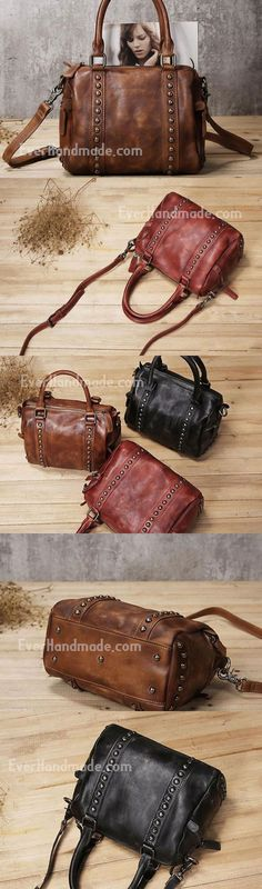 b879c5f53 Handmade Leather handbag purse shoulder bag for women leather Bolso  Mochila, Carteras Y Bolsos,