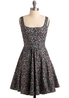 """Anytime a #dress on #Modcloth is described as """"small on top"""" I am tempted to get it. And the cut is so cute! I'm just not sure about the flower pattern - a bit twee? It's $54.99."""