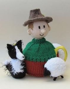 The Sheep Farmer tea cosy from the TeaCosyFolk range of tea cosies has bags of character. You can buy the Sheep Farmer tea cosy as a finished hand crafted tea cosy , or as a Sheep Farmer tea cosy knitting pattern to make your own tea cosy with character Tea Cosy Knitting Pattern, Tea Cosy Pattern, Knitting Charts, Knitting Patterns, Knitted Tea Cosies, Tea Blog, Knitting Supplies, Tea Cozy, Sheep