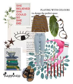 """""""creative minds"""" by halasmoon on Polyvore featuring Urban Outfitters, FabFunky, Topshop, Pottery Barn, Pier 1 Imports, See Concept, jcp and Birkenstock"""
