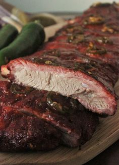 Apple Jalapeno Smoked Ribs