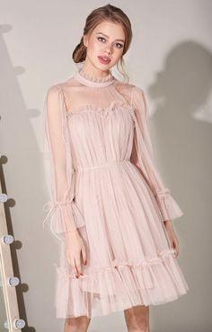 Cute Prom Dresses, Prom Dresses With Sleeves, Lovely Dresses, Elegant Dresses, Vintage Dresses, Short Dresses, Looks Adidas, Fairytale Dress, Sweet Dress