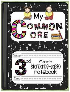 $15.00  Here you go! I am so excited to share with you...My Common Core Standards-Based Notebook for 3rd Grade! If you use portfolio-based assessment then ...