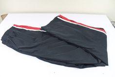 NIKE men  pants (M)  medium black 100% polyester pre-owned EUC #Nike