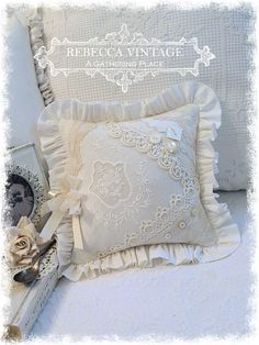 Romantic Vintage Lace Pillow - Pillows - A Gathering Place
