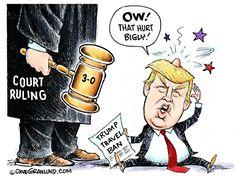 Presumptuous Politics: Travel Ban Cartoon