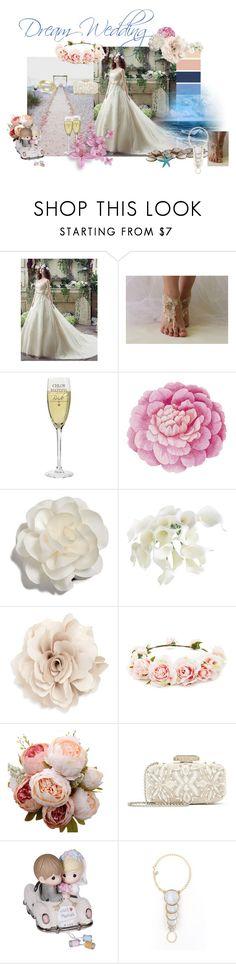 """Dream Wedding"" by alina-filika ❤ liked on Polyvore featuring Ballard Designs, Cara, Forever 21, Oscar de la Renta, Precious Moments and dreamwedding"