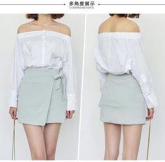Korean fashion lace irregular skirt AddOneClothing.com Size Chart