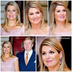 26-05-2014  Queen Maxima and King Willem-Alexander at the galadinner at Schloss Wilkinghege in Munster, Germany.