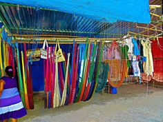 HAMMOCK VENDOR ON THE ROAD TO VALLADOLID YUCATAN MEXICO