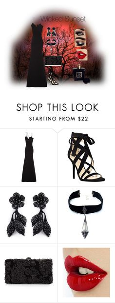 """""""Wicked Sunset"""" by harmonyandlove on Polyvore featuring Victoria Beckham, Nine West, Valentino, Child Of Wild, Deux Lux, Chanel, women's clothing, women's fashion, women and female"""