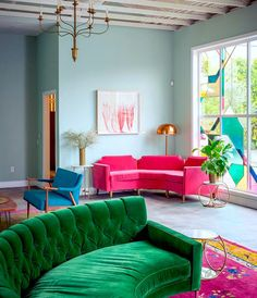 Awesome Bright jewel tones create a balanced and vibrant modern room - Jewel-tone Interior Decorating
