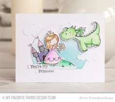 Once Upon a Time Stamp Set and Die-namics, Ewe Are the Best Stamp Set and Die-namics, Magical Dragons Stamp Set and Die-namics, Puffy Clouds Die-namics, Stitched Arch STAX Die-namics - Anna Kossakovskaya  #mftstamps