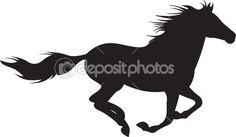 vector silueta de caballo — Ilustración de stock #5267005