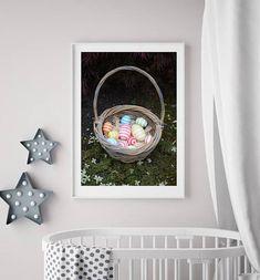 Easter Basket digital instant download Nursery art Easter art