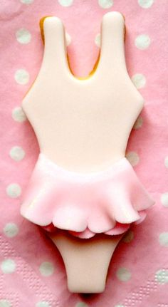 Ballerina tutu cookie...OR better...a retro swimsuit!!
