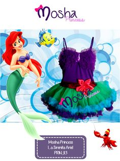 Vestido de la Sirenita diseño de Mosha.
