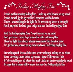 Song: Feeling Mighty Fine