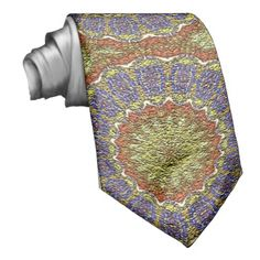 Colorful abstract pattern neck tie
