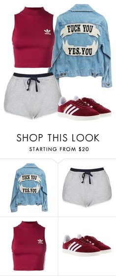 """Untitled #475"" by dreamer3108 on Polyvore featuring Topshop, adidas Originals and adidas"