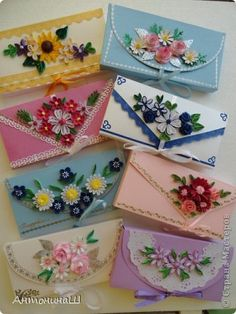 Image gallery – Page 528117493802550331 – Artofit Paper Quilling Cards, Paper Quilling Patterns, Paper Quilling Jewelry, Neli Quilling, Quilling Craft, Quilling Flowers, Paper Flowers, Decorated Envelopes, Handmade Envelopes