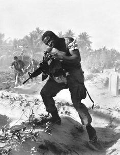 Black Soldier U.S. 1st Cavalry, Vietnam, 1966