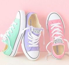 """""""Converse"""" Women Men Fashion Canvas Flats Sneakers Sport Shoes from Love Fashion. Saved to Things I want as gifts. Converse Chucks, Converse All Star, Custom Converse, Converse Shoes For Kids, Converse Shoes Outfit, Colored Converse, Converse Girls, Purple Converse, Converse Low Tops"""