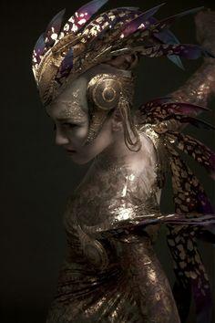 Headdress & Winged Harness: Rob Goodwin  Costume Design: David Bamber  Photographer: Diego Indraccolo  Ballerina: Ksenia Ovsyanick