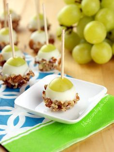 ♡TRY WITH NUTELLA♡ . . .Grape Poppers – so easy to make and great for any party