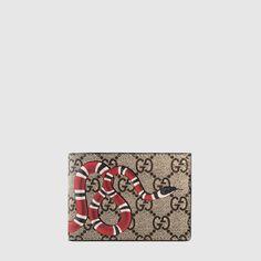 60f2c9bf30a4 Gucci Snake print GG Supreme wallet Valentine's Day, Snake Print, Gucci  Men, Gucci