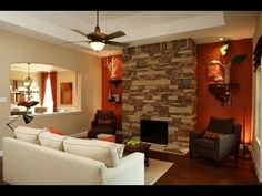 Home Decoration Ideas and Design Architecture. DIY and Crafts for your home renovation projects. Decoration Bedroom, Home Decor Bedroom, Living Room Decor, Dining Room Paint Colors, Room Colors, Living Room Orange, Front Rooms, Bedroom Red, Interior Decorating