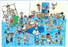 Gymzaal: Kinderen en hun sociale talenten