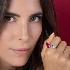 MADEMOISELLE B. Ring - STENZHORN JEWELLERY Diamond Earrings, Stud Earrings, 18k Gold, Feminine, Product Description, Gemstones, Jewellery, Beauty, Women