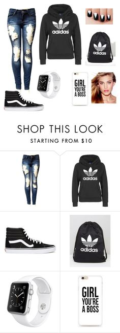 """a day with magcon #magcon"" by sofiachapeton ❤ liked on Polyvore featuring adidas, Vans, Apple and Charlotte Tilbury"