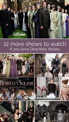 I have Downton Abbey withdrawals! This post is great - the post tells 12 more shows to watch if you love Downton, then tons of people have left comments mentioning their favorite period pieces, so there's lots of great ideas.