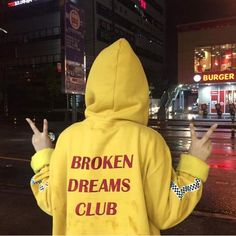 Broken Dreams Club Hoodie - Yellow / One Size