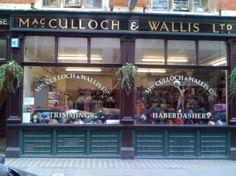 MacCulloch & Wallis, 25–26 Dering Street (near Oxford Stree), London, W1S 1AT. London's Top 10 Haberdashery Shops.