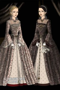 Queens Sisters ~ by StellaLo ~ created using the Tudors doll maker | DollDivine.com