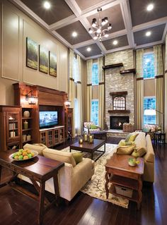 Excellent placement of artwork -- triptych -- above the entertainment center.    Toll Brothers - America's Luxury Home Builder