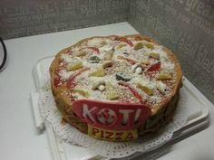 pizzakakku logolla Kotipizza yrittäjälle