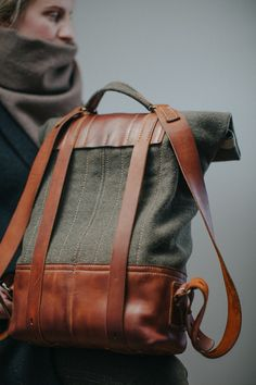 cloth and leather rucksack #079 on Behance