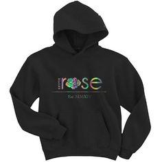 """OG Kryptik Rose"" Black Hoodie (Holographic)"