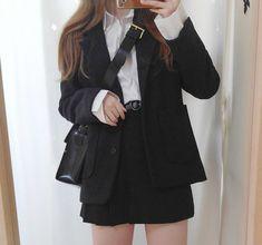 🍒ʝεɳɳเε🍒 Korean Girl Fashion, Ulzzang Fashion, Korean Street Fashion, Kawaii Fashion, Cute Fashion, Look Fashion, Cute Casual Outfits, Pretty Outfits, Teen Fashion Outfits
