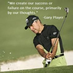 Great advice from living legend Gary Player. I Rock Bottom Golf #rockbottomgolf