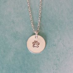 Paw Sterling Silver Necklace by beyoujewelrydesign on Etsy, $25.00