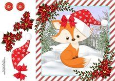 Gorgeous Fox With Santa Hat 8x8 on Craftsuprint - View Now!