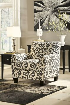 Ashley Furniture Signature Design  Levon Accent Chair  Contemporary  Charcoal Gray * Want additional info? Click on the image. (This is an affiliate link)